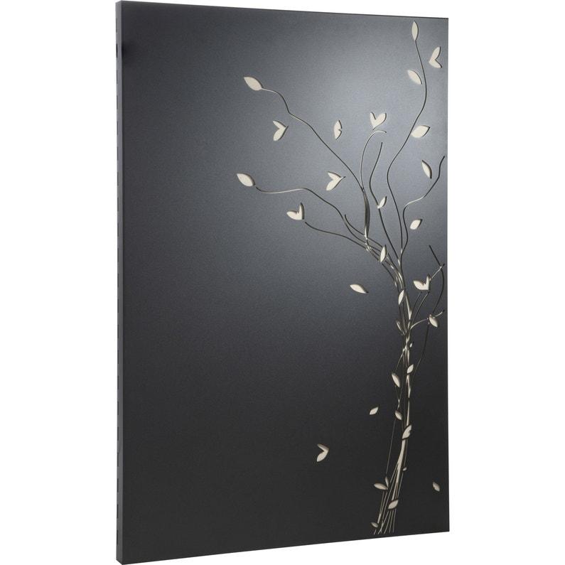 Plaque De Protection Murale Noir Sable Equation Vegetal L 80 Cm X H