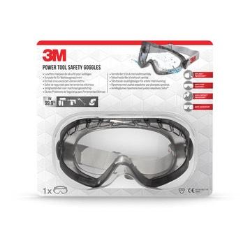 Lunettes masque de sécurité pour outillages 3M contre projections, verre  incolore 651fbf3e27ce