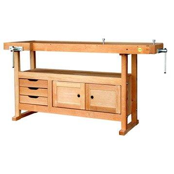 Etabli en bois OUTIFRANCE avec 3 tiroirs et 2 portes