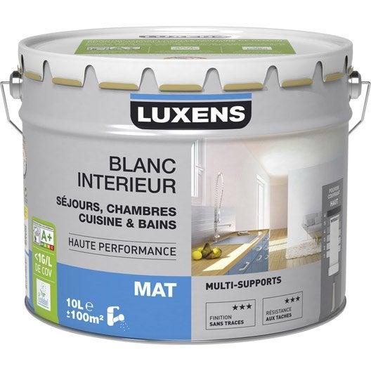 Peinture luxens mat 10 l leroy merlin for Peinture pieces humides