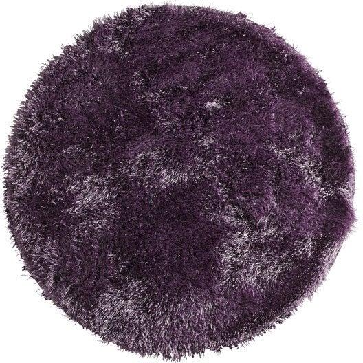tapis violet shaggy enzo mm leroy merlin. Black Bedroom Furniture Sets. Home Design Ideas