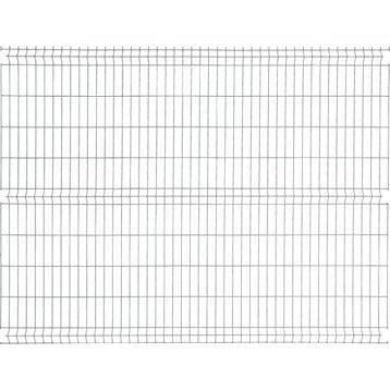 Panneau grillagé NATERIAL vert H.1.93 x L.2.48 m, maille H.200 x l.55 mm