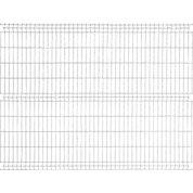 Panneau grillagé NATERIAL gris anthracite H.1.73 x L.2.48m, maille H.200xl.55mm