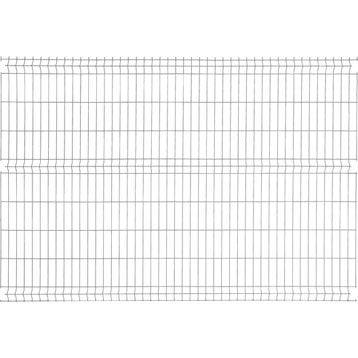Panneau grillagé NATERIAL gris anthracite H.1.93 x L.2.48m, maille H.200xl.55mm