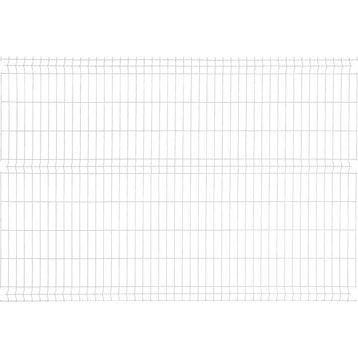 Panneau grillagé NATERIAL blanc H.1.73 x L.2.48 m, maille H.200 x l.55 mm