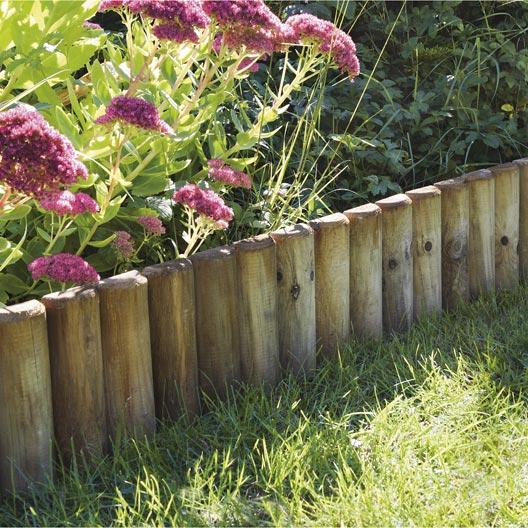 Bordure planter pin de bois naturel x cm for Bordure terre cuite jardin