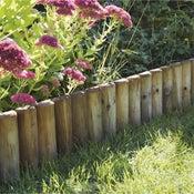 Bordure à planter Pinède bois naturel, H.35 x L.112 cm