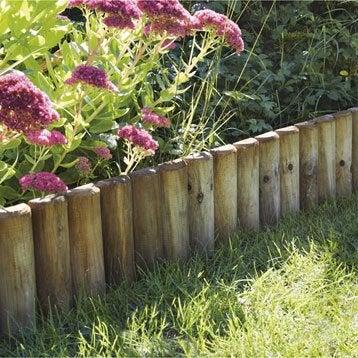 Bordure de jardin bois b ton plastique pierre acier for Separation bois pour jardin