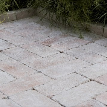 Pav caris b ton saumon ton pierre for Pave beton exterieur
