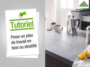 Une cuisine sous les combles leroy merlin - Comment faire un plan de travail cuisine ...