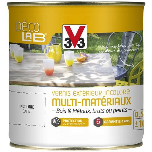 Vernis v33 0 5 l incolore leroy merlin for Vernis bois exterieur
