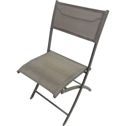 Chaise de jardin en aluminium cappuccino leroy merlin - Chaise de jardin en aluminium ...