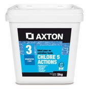 Chlore 5 actions piscine AXTON, galet 5 kg