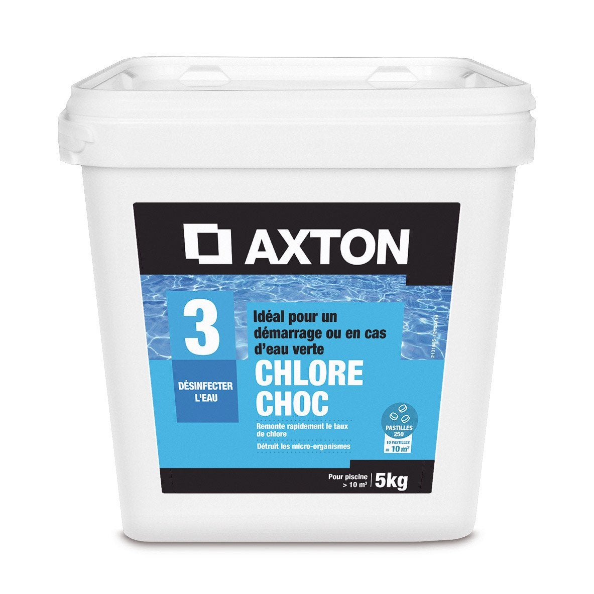 Chlore choc piscine axton pastille 5 l 5 kg leroy merlin for Traitement de choc piscine