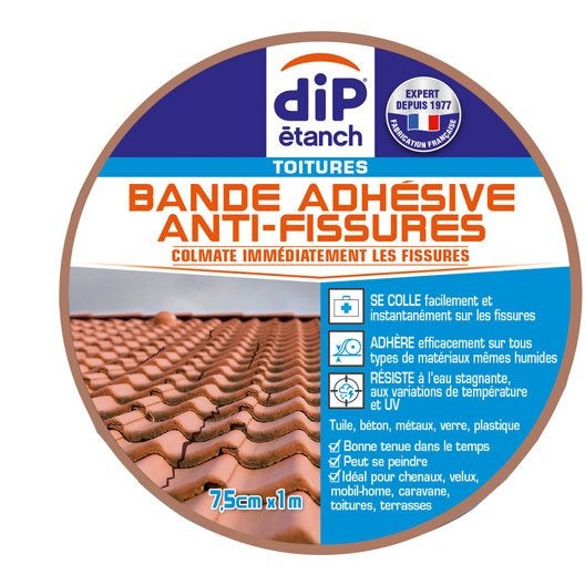 Bande d 39 tanch it anti fissures dip terre cuite 1 m x 7 5 cm leroy me - Dip etanch anti infiltration ...