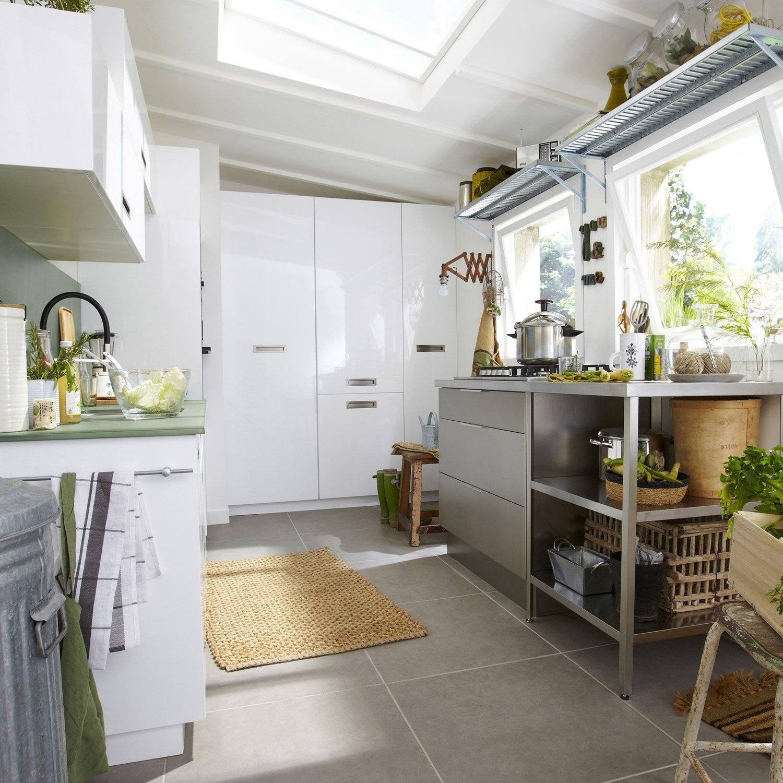meuble de cuisine blanc delinia play | leroy merlin