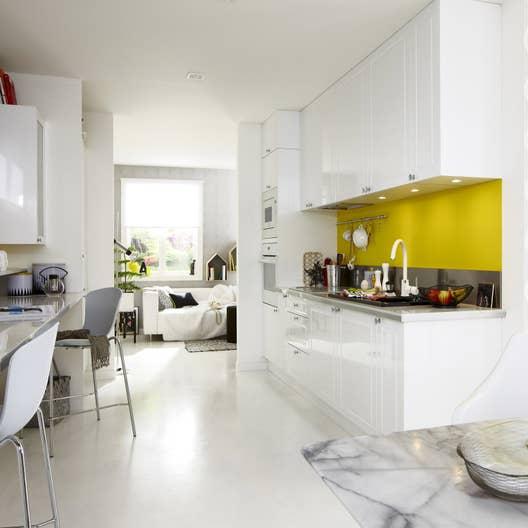 Meuble de cuisine blanc delinia chelsea leroy merlin for Meuble de cuisine blanc