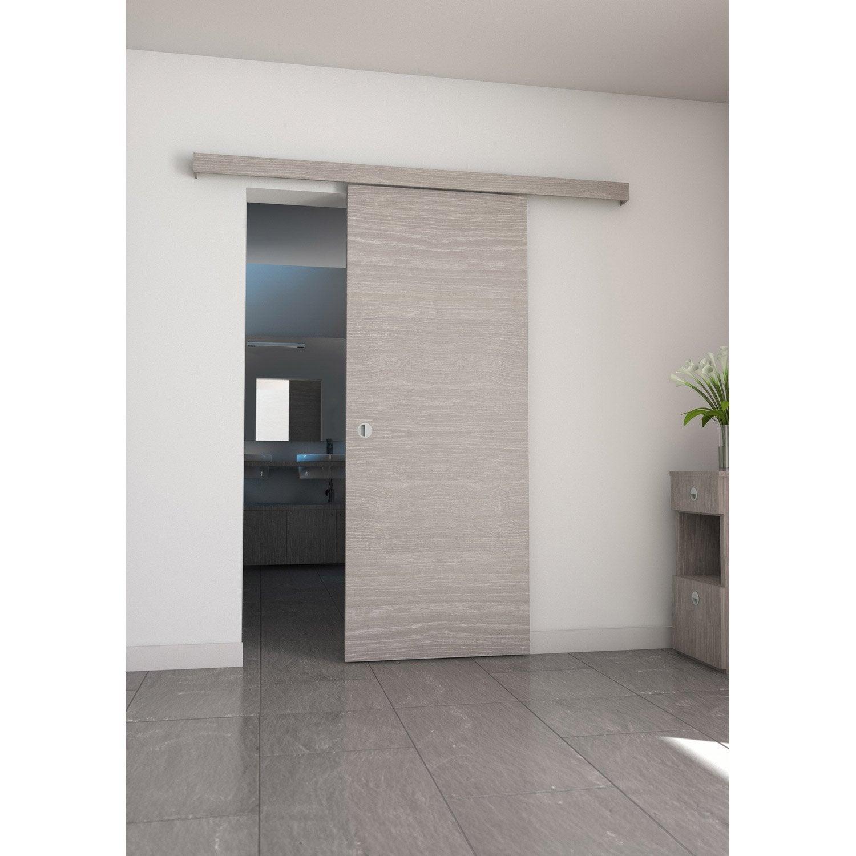 Ensemble porte coulissante coulicool mdf revetu aluminium for Porte de garage coulissante et porte intérieure 3 panneaux