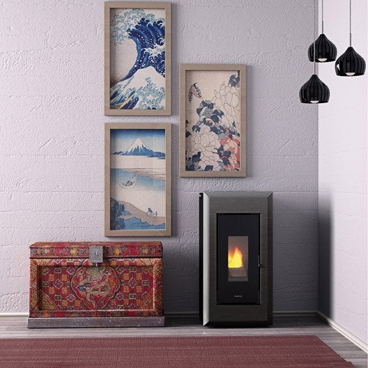 po le granul s freepoint vega air noir anthracite 10 5 kw leroy merlin. Black Bedroom Furniture Sets. Home Design Ideas