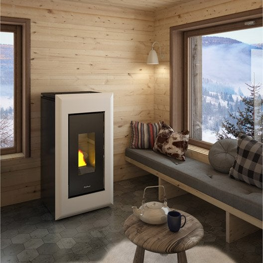 po le granul s freepoint vega air blanc 10 5 kw leroy merlin. Black Bedroom Furniture Sets. Home Design Ideas