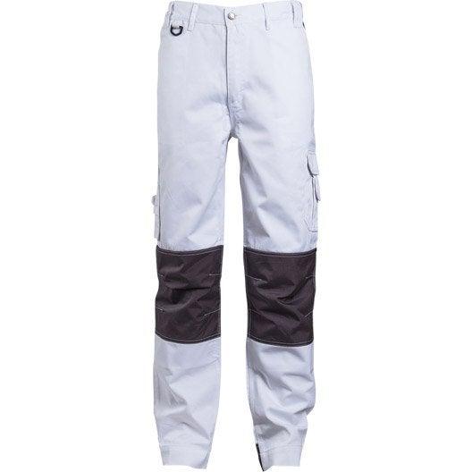 pantalon de travail multipoche class white blanc taille xs leroy merlin. Black Bedroom Furniture Sets. Home Design Ideas