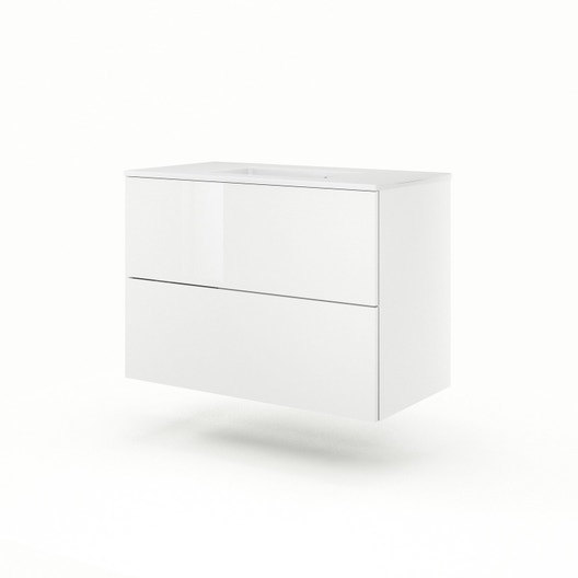 meuble vasque blanc neo line leroy merlin. Black Bedroom Furniture Sets. Home Design Ideas