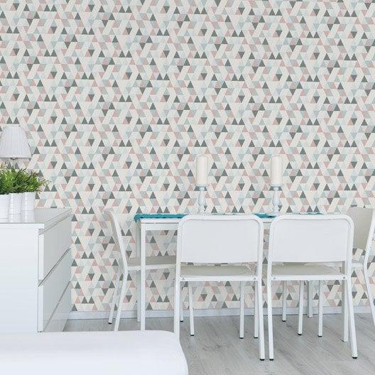 Papier peint tapisserie papier peint intiss et vinyle - Tapisserie cuisine leroy merlin ...