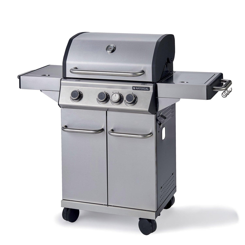 Barbecue Au Gaz Naterial Hudson Gris Leroy Merlin