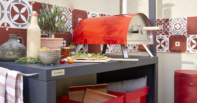 Un Four A Pizza Rouge Flamboyant Leroy Merlin