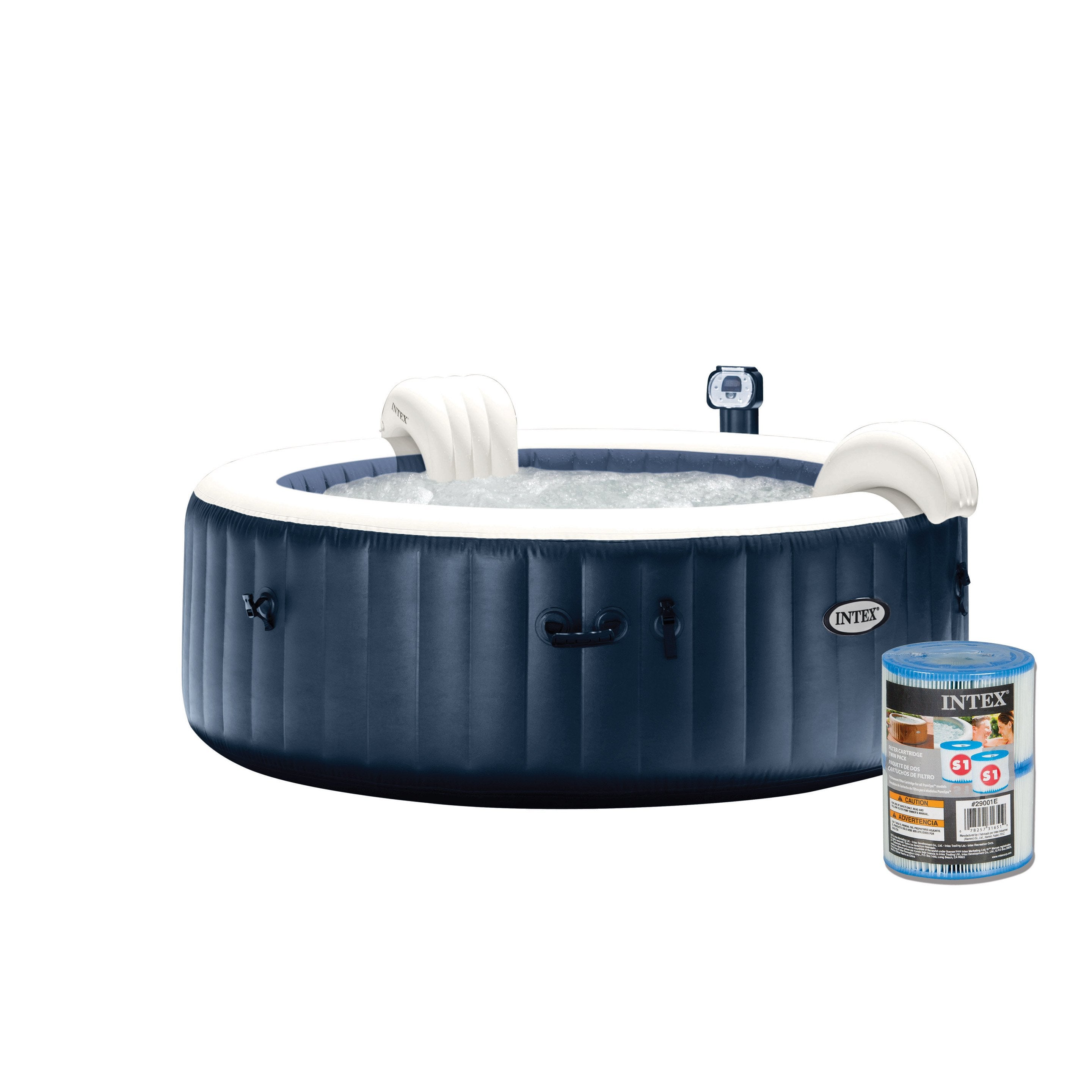 Leroy Merlin Spa Intex spa gonflable intex purespa rond, 4 places assises