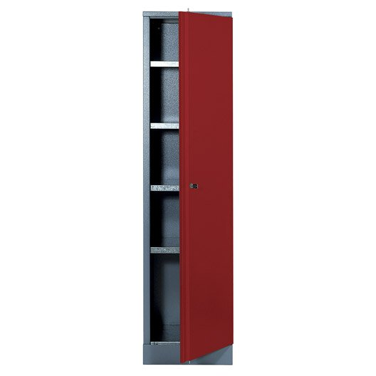 Armoire de rangement en métal rouge, KUPPER | Leroy Merlin