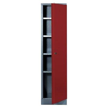 Armoire de rangement en métal rouge KUPPER 45.5 cm 1 porte