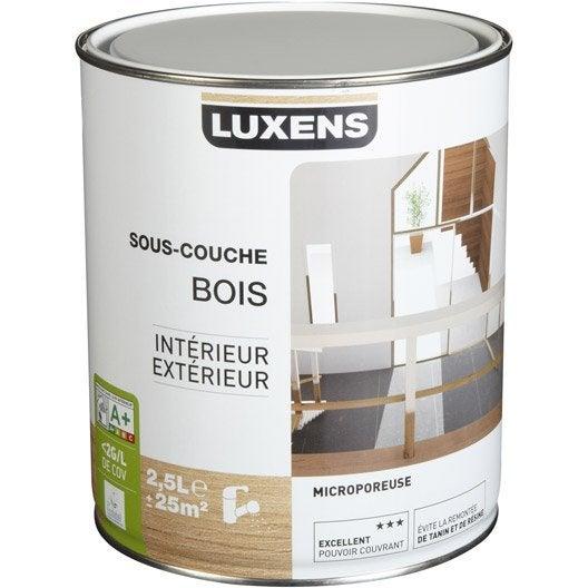 sous couche bois int rieur et ext rieur luxens 2 5 l leroy merlin. Black Bedroom Furniture Sets. Home Design Ideas