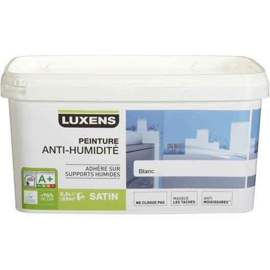 Peinture anti humidit luxens blanc 2 5l leroy merlin - Peinture anti eau ...