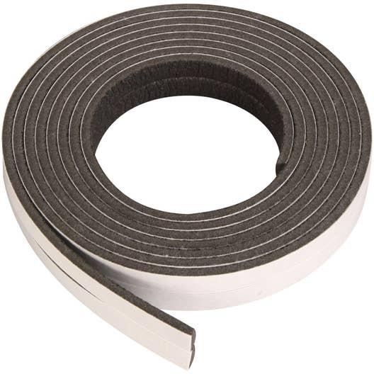 Joint de porte et fen tre universel axton de 1 4 mm x 5 5 m noir leroy merlin - Joint de frigo universel ...