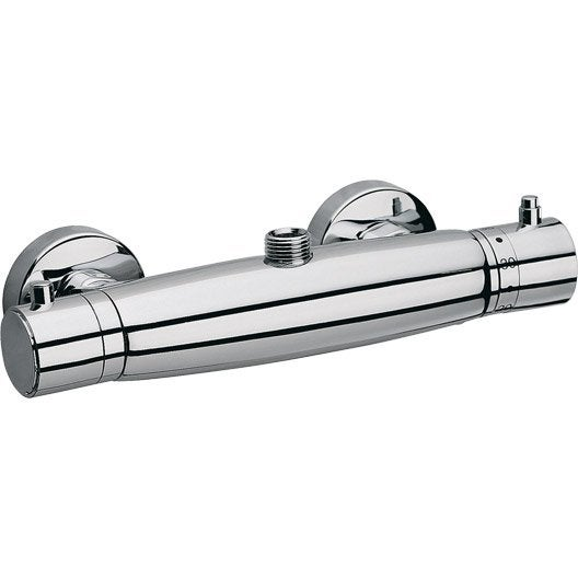 Mitigeur thermostatique de douche chrom linea leroy merlin for Leroy merlin mitigeur bain douche