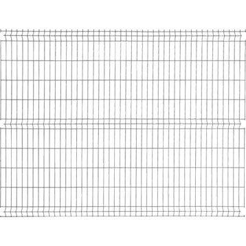 Panneau grillagé NATERIAL noir H.1.93 x L.2.48 m, maille H.200 x l.55 mm