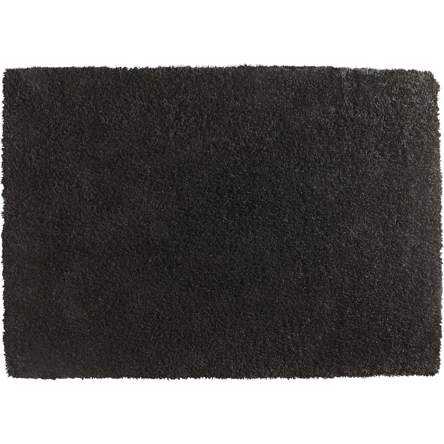 tapis gris shaggy cubic x cm leroy merlin. Black Bedroom Furniture Sets. Home Design Ideas