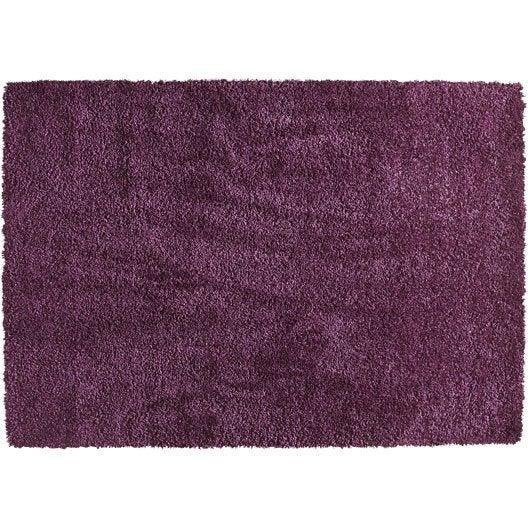 tapis violet shaggy lizzy x cm leroy merlin. Black Bedroom Furniture Sets. Home Design Ideas