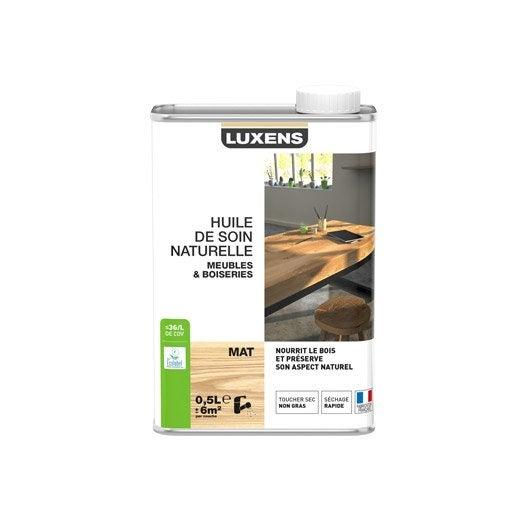 huile meuble et objets huile meubles luxens, 0.5 l, teck | leroy