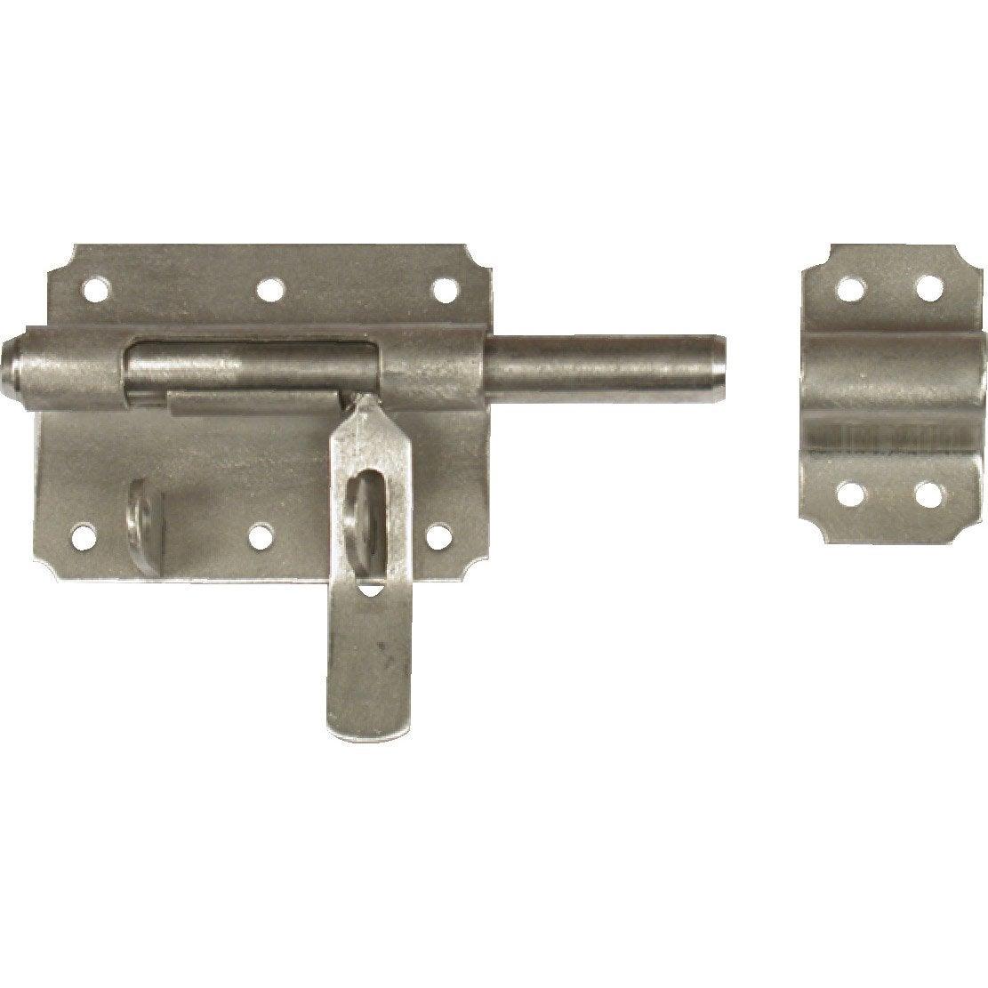 Verrou de box porte cadenas inox brossé, H.70 x L.120 x P.20 mm ...