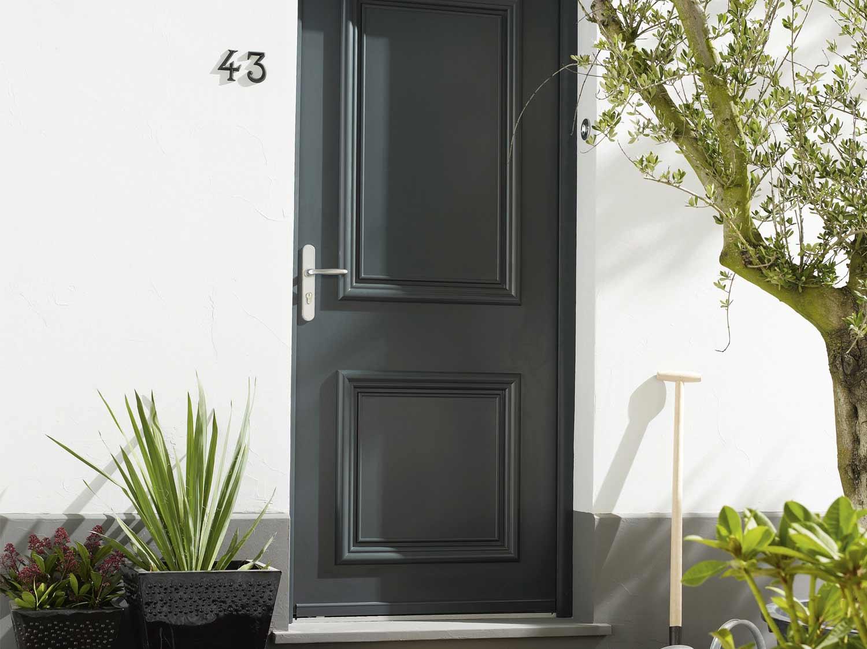 porte de service bois sapin classe 3 poussant gauche x cm leroy merlin. Black Bedroom Furniture Sets. Home Design Ideas