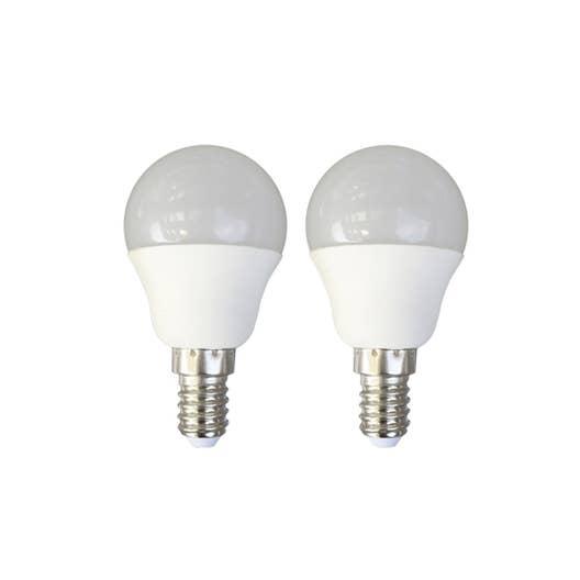 2 ampoules sph riques led 6w 470lm quiv 40w e14 3000k - Ampoule e14 40w ...
