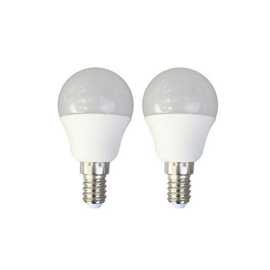 2 ampoules sph riques led 6w 470lm quiv 40w e14 3000k 150 lexman leroy merlin. Black Bedroom Furniture Sets. Home Design Ideas