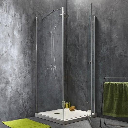 porte de douche pivotante 78 5 80 cm profil chrom premium2 p fixe leroy merlin. Black Bedroom Furniture Sets. Home Design Ideas