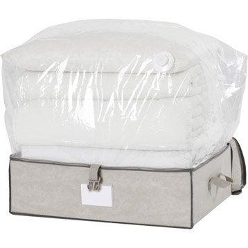 Panier malle et boite de rangement accessoires de for Housse sous vide sans aspirateur