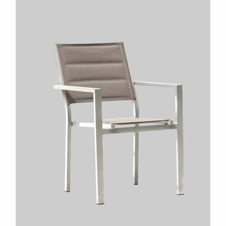 Fauteuil de jardin en aluminium Matelassé ivoire   Leroy Merlin 4439feec53c6