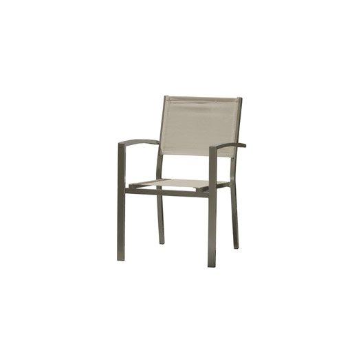 fauteuil de jardin en aluminium london brun leroy merlin. Black Bedroom Furniture Sets. Home Design Ideas