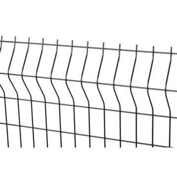Panneau grillagé gris anthracite H.1 x L.2 m, maille H.200 x l.50 mm