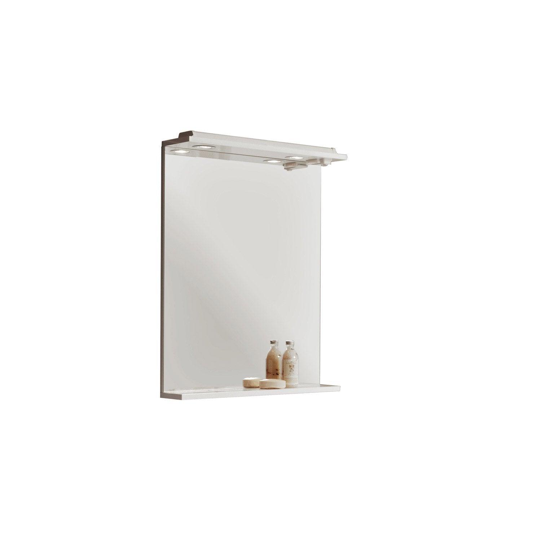 Miroir lumineux avec spot galice leroy merlin for Spot avec interrupteur salle de bain